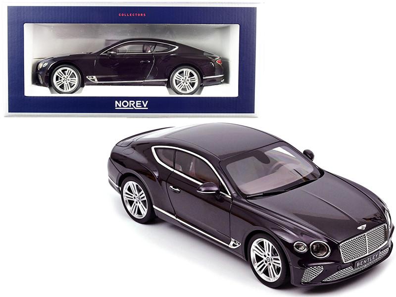 2018 Bentley Continental GT Damson Purple Metallic 1/18 Diecast Model Car Norev 182783