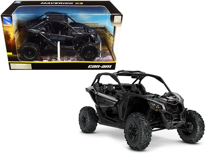 CAN-AM Maverick X3 ATV Triple Black 1/18 Diecast Model New Ray 58193 B