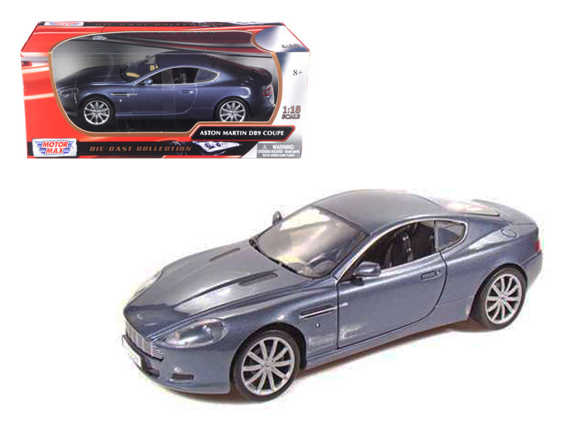 2004 Aston Martin DB9 Coupe Blue 1/18 Diecast Car Model Motormax 73174