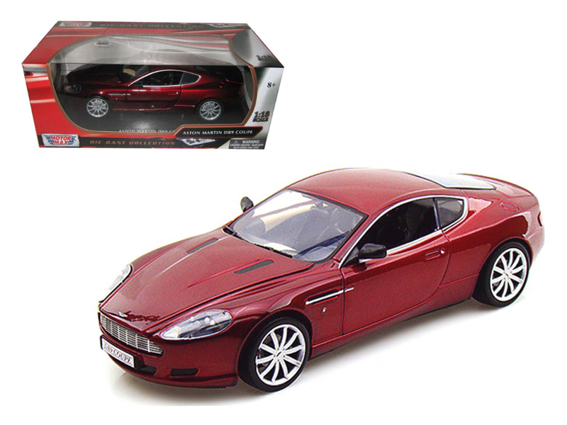 Aston Martin DB9 Coupe Burgundy 1/18 Diecast Car Model Motormax 73174