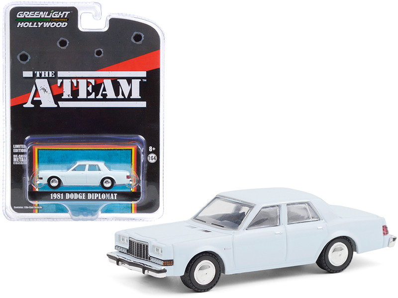 1981 Dodge Diplomat Light Blue The A-Team 1983 1987 TV Series Hollywood Special Edition 1/64 Diecast Model Car Greenlight 44865 D