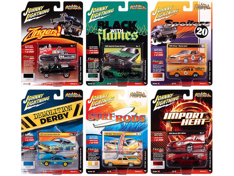 Street Freaks 2020 Set B 6 Cars Release 4 1/64 Diecast Model Cars Johnny Lightning JLSF018 B