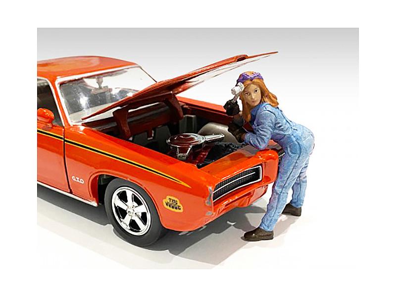 Retro Female Mechanic I Figurine 1/18 Scale Models American Diorama 38244