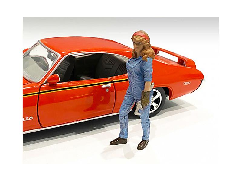 Retro Female Mechanic III Figurine 1/24 Scale Models American Diorama 38346