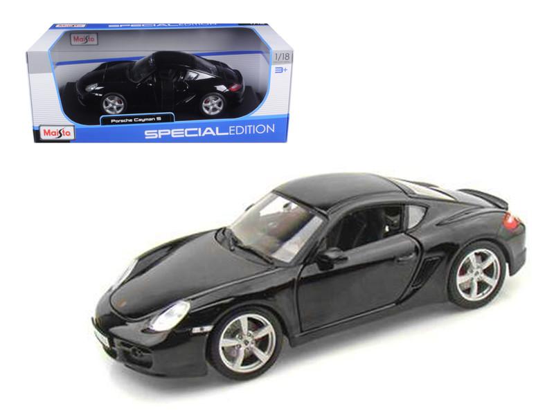 Porsche Cayman S Black 1/18 Diecast Model Car by Maisto