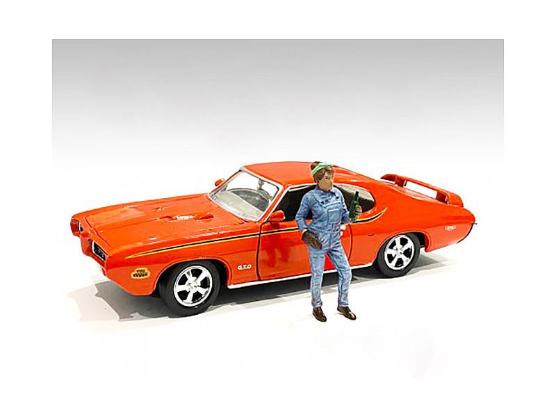 Retro Female Mechanic IV Figurine 1/24 Scale Models American Diorama 38347