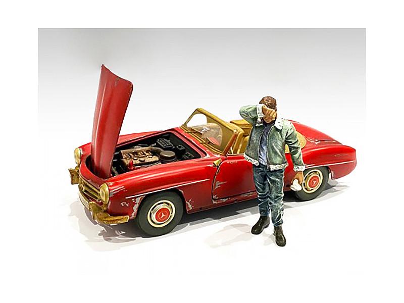 Auto Mechanic Sweating Joe Figurine 1/18 Scale Models American Diorama 76262