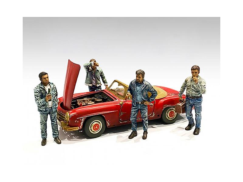 Auto Mechanics Figurines 4 piece Set 1/18 Scale Models American Diorama 76259 76260 76261 76262
