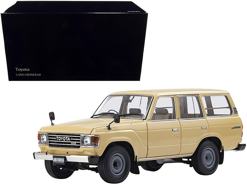 Toyota Land Cruiser 60 RHD Right Hand Drive Beige 1/18 Diecast Model Car Kyosho 08956 BE