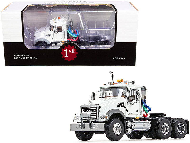 Mack Granite MP Engine Series Truck Tractor White 1/50 Diecast Model First Gear 50-3115C