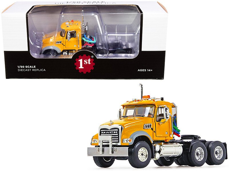 Mack Granite MP Engine Series Truck Tractor Yellow 1/50 Diecast Model First Gear 50-3116C
