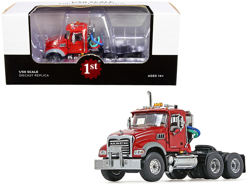 Mack Granite MP Engine Series Truck Tractor Red 1/50 Diecast Model First Gear 50-3117C