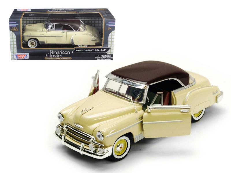 1950 Chevrolet Bel Air Cream 1/24 Diecast Model Car Motormax 73268