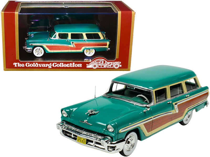1956 Mercury Monterey Station Wagon Health Green Wood Paneling Limited Edition 220 pieces Worldwide 1/43 Model Car Goldvarg Collection GC-012 A