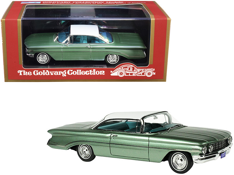 1960 Oldsmobile Fern Green Mist Metallic White Top Limited Edition 220 pieces Worldwide 1/43 Model Car Goldvarg Collection GC-021 B