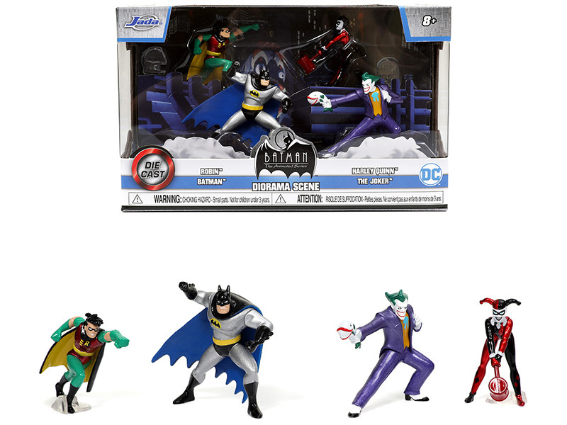 Batman The Animated Series Diorama Scene Set 4 Diecast Figurines Nano Hollywood Rides Diecast Models Jada 31353