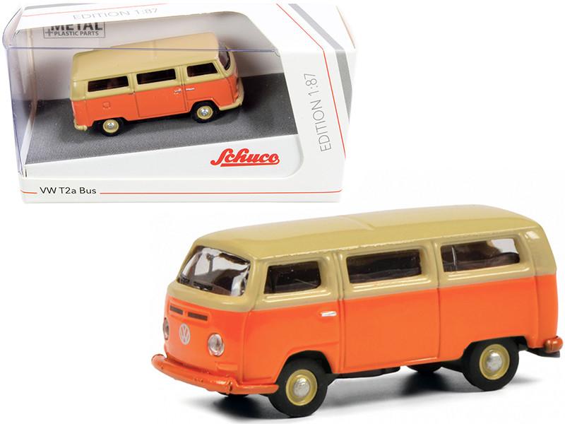 Volkswagen T2a Bus Orange Yellow 1/87 HO Diecast Model Schuco 452650800