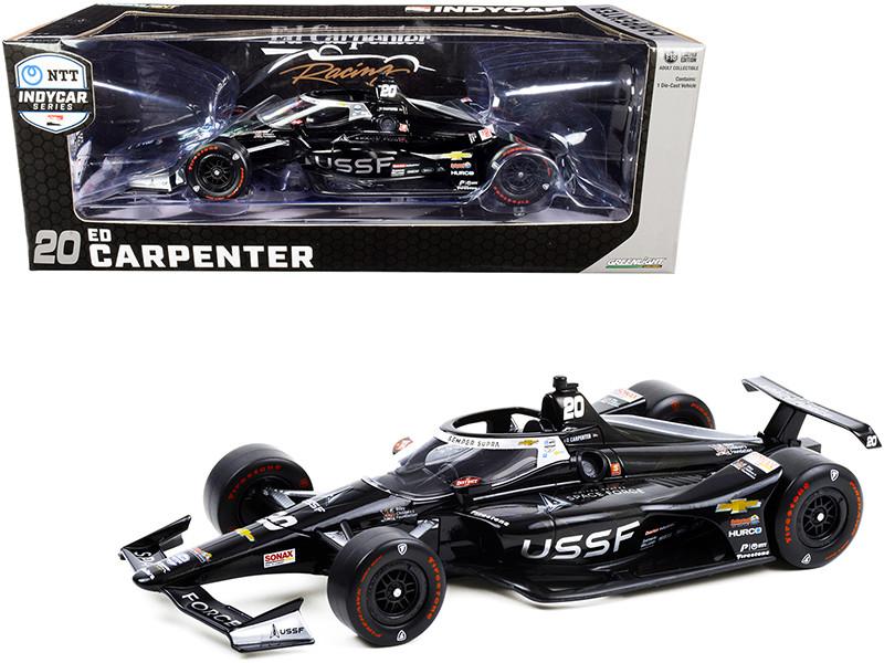 Dallara IndyCar #20 Ed Carpenter United States Space Force USSF NTT IndyCar Series 2020 1/18 Diecast Model Car Greenlight 11102
