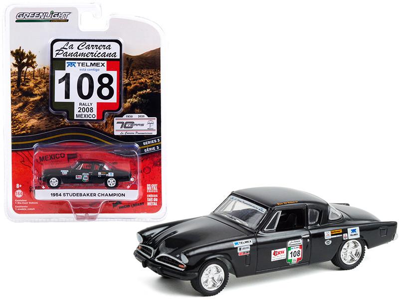 1954 Studebaker Champion #108 GRW Racing Wear Rally Mexico 2008 La Carrera Panamericana Series 3 1/64 Diecast Model Car Greenlight 13280 B