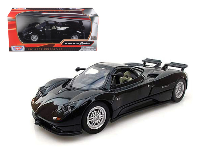 Pagani Zonda C12 Black 1/24 Diecast Car Model Motormax 73272