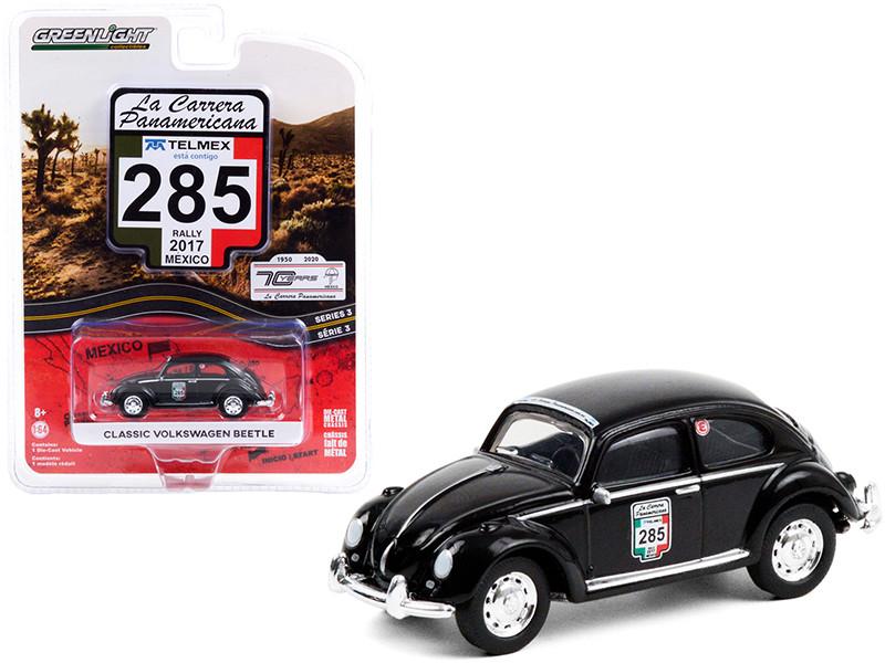 Classic Volkswagen Beetle #285 Rally Mexico 2017 La Carrera Panamericana Series 3 1/64 Diecast Model Car Greenlight 13280 F