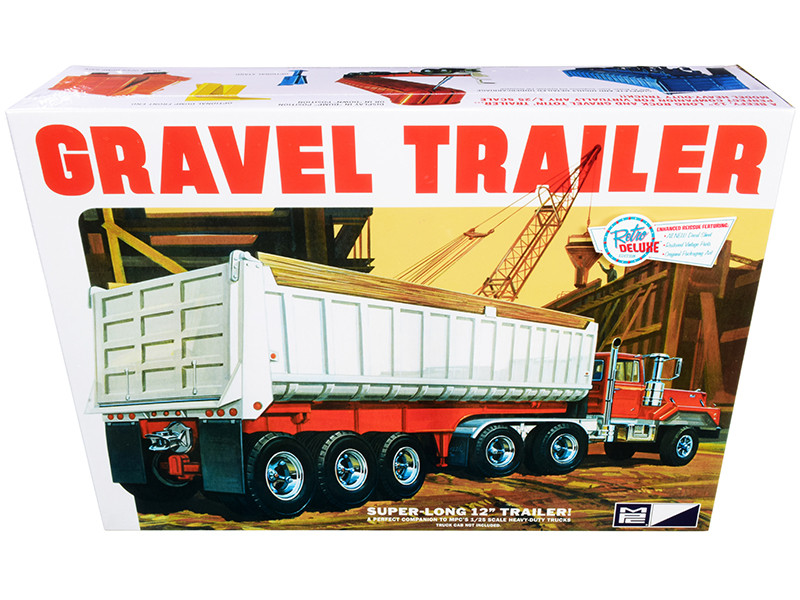 Skill 3 Model Kit Gravel Trailer 1/25 Scale Model MPC MPC823
