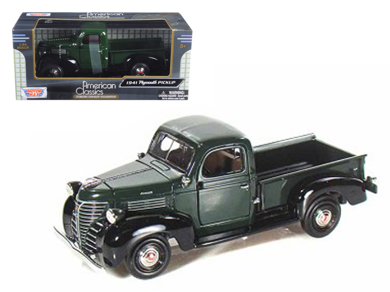 1941 Plymouth Pickup Green 1/24 Diecast Model Car Motormax 73278