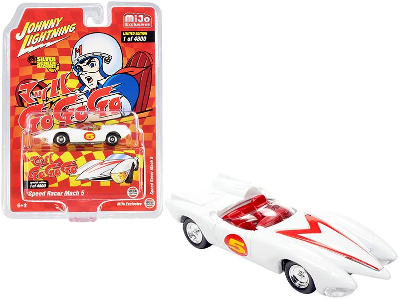 Speed Racer Mach 5 Five White Japan Nostalgia Version Limited Edition 4800 pieces Worldwide 1/64 Diecast Model Car Johnny Lightning JLCP7349