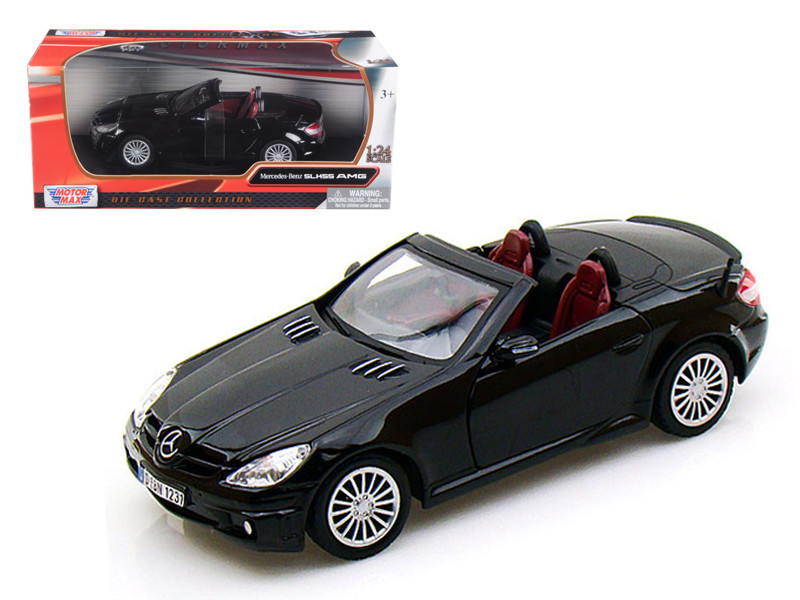 Mercedes SLK 55 AMG Black 1/24 Diecast Car Model Motormax 73292