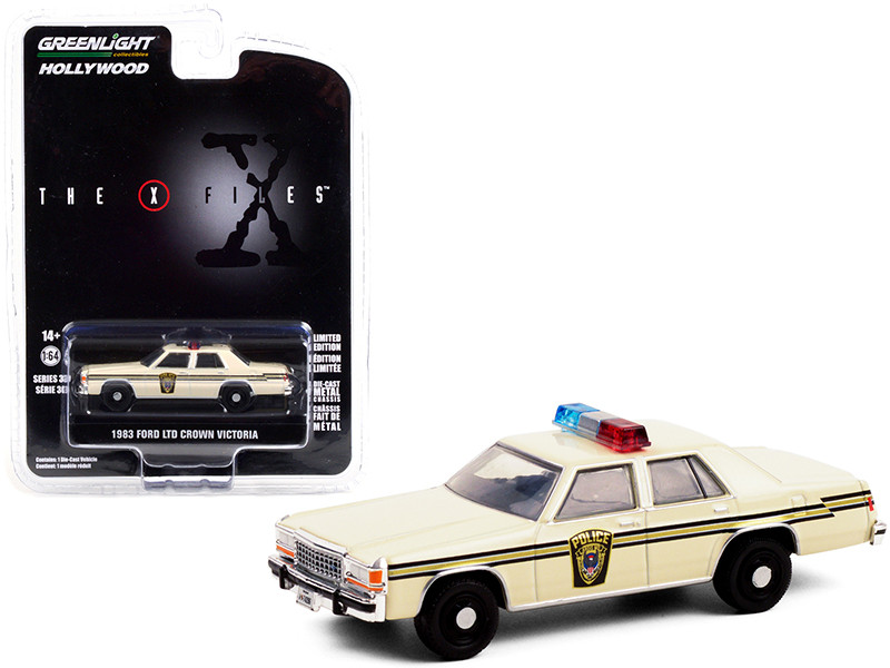 1983 Ford LTD Crown Victoria Cream Ardis MD Police The X-Files 1993 2002 TV Series Hollywood Series Release 30 1/64 Diecast Model Car Greenlight 44900 C
