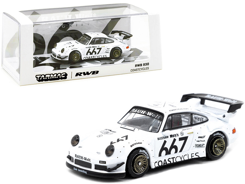 Porsche RWB 930 #667 Coastcycles White 1/64 Diecast Model Car Tarmac Works T64-015-CC