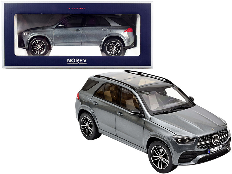 2019 Mercedes Benz GLE with Sunroof Gray Metallic 1/18 Diecast Model Car Norev 183746