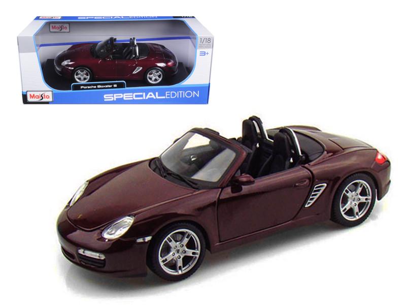 Porsche Boxster S Burgundy 1/18 Diecast Model Car by Maisto
