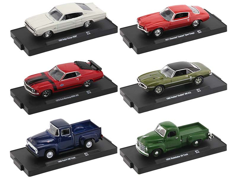 Drivers Set of 6 pieces Blister Packs Release 71 Limited Edition 8000 pieces Worldwide 1/64 Diecast Model Cars M2 Machines 11228-71
