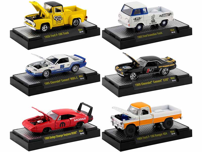 Auto Meets Set of 6 Cars DISPLAY CASES Release 54 Limited Edition 7980 pieces Worldwide 1/64 Diecast Model Cars M2 Machines 32600-54