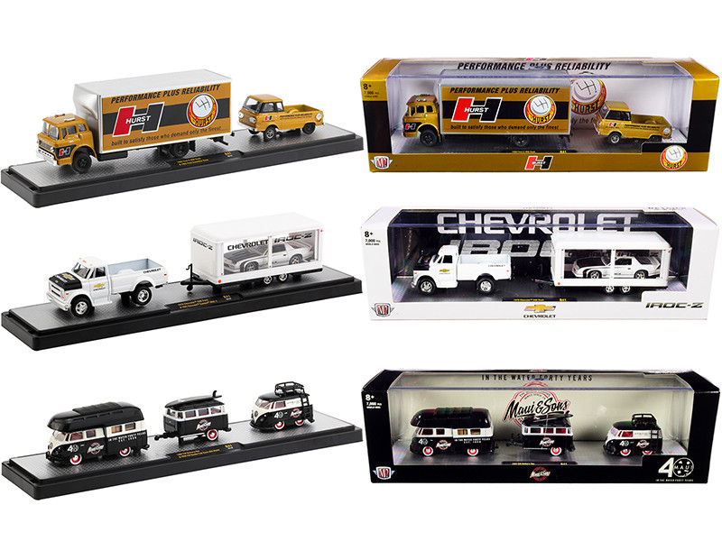 Auto Haulers Set of 3 Trucks Release 41 Limited Edition 7000 pieces Worldwide 1/64 Diecast Models M2 Machines 36000-41
