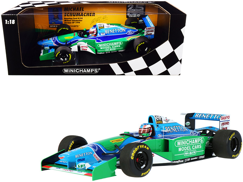 Benetton Ford B194 #5 Michael Schumacher German GP Formula One F1 1994 Limited Edition 450 pieces Worldwide 1/18 Diecast Model Car Minichamps 510942705