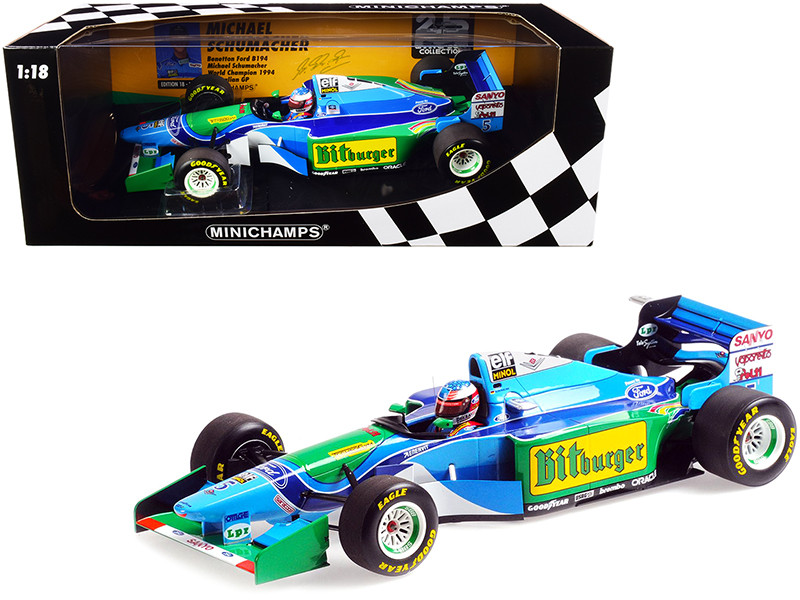 Benetton Ford B194 #5 Michael Schumacher World Champion Australian GP Formula One F1 1994 Limited Edition 720 pieces Worldwide 1/18 Diecast Model Car Minichamps 510943405