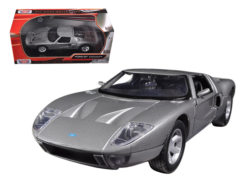 Ford GT Silver 1/24 Diecast Car Model Motormax 73297