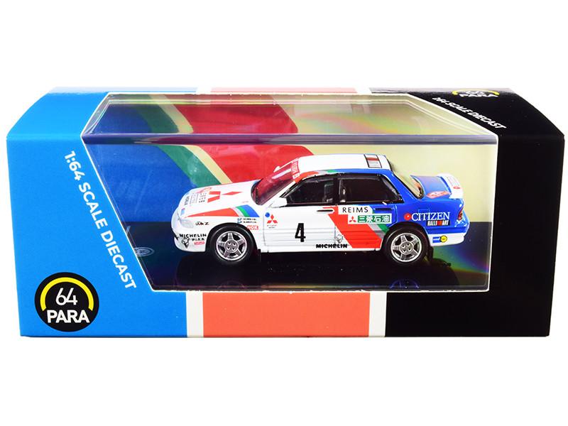 Mitsubishi Galant VR-4 #4 Monte Carlo Rally 1991 1/64 Diecast Model Car Paragon PA-65102