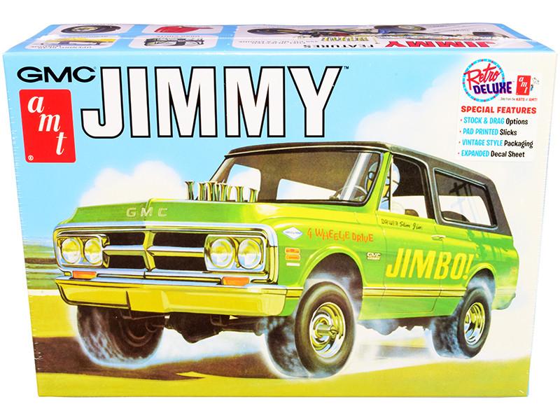 Skill 2 Model Kit 1972 GMC Jimmy Pickup Truck 2-in-1 Kit 1/25 Scale Model AMT AMT1219