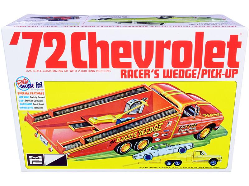 Skill 2 Model Kit 1972 Chevrolet Pickup Truck Racer's Wedge 2-in-1 Kit 1/25 Scale Model MPC MPC885