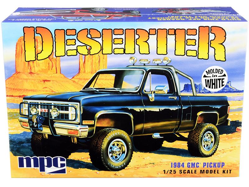 Skill 2 Model Kit 1984 GMC Pickup Truck Molded in White Deserter 1/25 Scale Model MPC MPC847