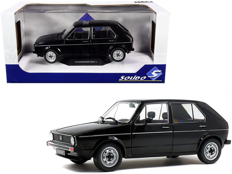 1983 Volkswagen Golf L Black 1/18 Diecast Model Car Solido S1800209