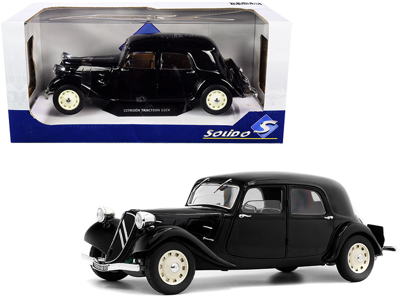 Citroen Traction 11CV Black 1/18 Diecast Model Car Solido S1800903