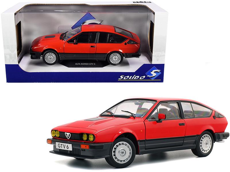 1984 Alfa Romeo GTV 6 Alfa Red 1/18 Diecast Model Car Solido S1802301