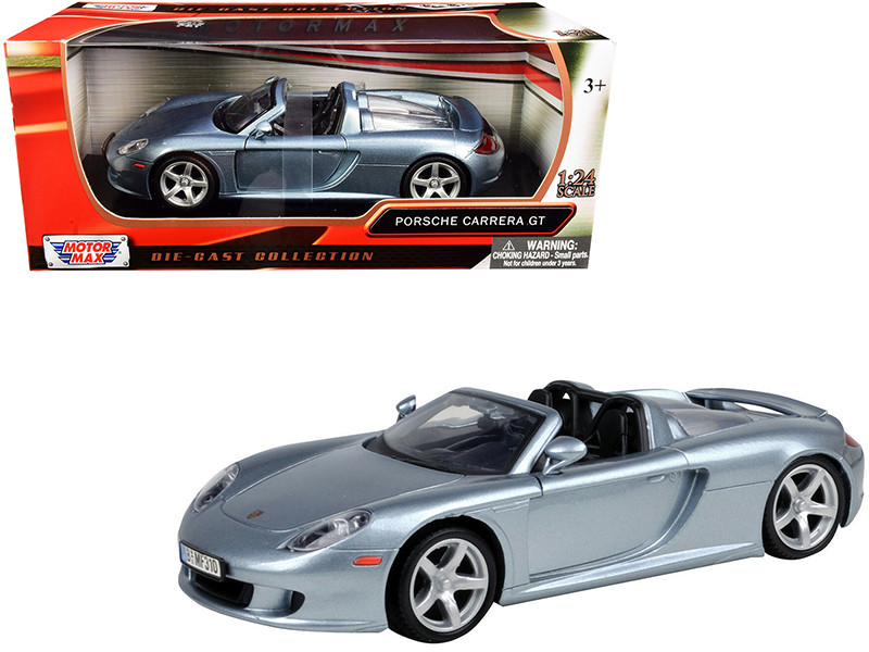 Porsche Carrera GT Gray 1/24 Diecast Model Car Motormax 73305