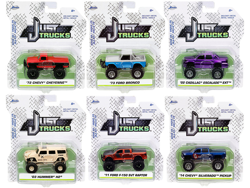 Just Trucks Set 6 Trucks Series 29 1/64 Diecast Model Cars Jada 14020-W29
