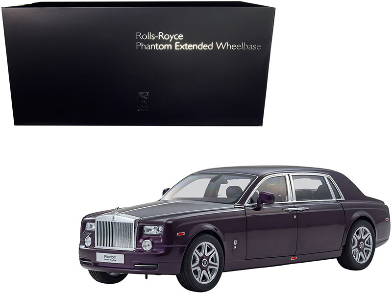 Rolls Royce Phantom Extended Wheelbase Twilight Purple 1/18 Diecast Model Car Kyosho 08841