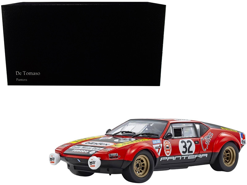 De Tomaso Pantera #32 Jean-Marie Jacquemin Yves Deprez 24H Le Mans 1972 1/18 Diecast Model Car Kyosho 08855 B
